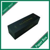 Роскошная коробка подарка бумаги вина с штемпелевать фольги