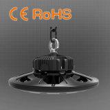 luz de la bahía del UFO de 100W LED alta, programa piloto de Meanwell, garantía de 5 años