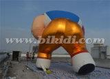 Гигантская раздувная модель K2097 шаржа футболиста