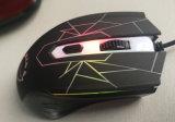 Le rétroéclairage d'optique de la souris 4D ordinateur câblé