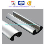 SUS304, 316 Rectangular Stainless Steel Pipe Glass Railing