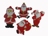 Vara do USB do PVC da movimentação do flash do USB dos presentes do Natal