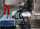 Tipo linear rotulador caliente de alta velocidad de Fed OPP del rodillo del pegamento del derretimiento