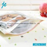 Sac clair transparent de nourriture/sac latéral de gousset fond plat 4/sac comique clair de tirette