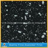 El color puro chispea piedra amarilla/de la negro/blanca del cuarzo