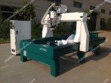 Máquinas de gravura de pedra artificial Router CNC com 4 CONTACTOR ROTATIVO