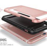 (빨간) iPhone 7/7plus를 위한 카드 홀더를 가진 잡종 PC TPU 이동 전화 덮개 케이스