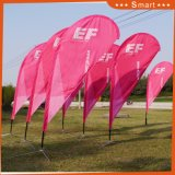 Vente en gros Custom Banner Advertising Feather Shape Teardrop Beach Flag