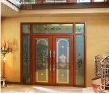 Porte coulissante en aluminium intérieure ou extérieure en verre Tempered