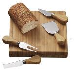 Jeu de plateau de fromages en bois avec Couteau à fromage en acier inoxydable (SE-2013)