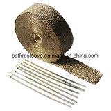 チタニウムの再使用可能な排気ヘッダの熱の覆い