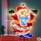 Het LEIDENE IP44 Klatergoud de Kerstman daalde in het Licht van Kerstmis van de Schoorsteen voor de Decoratie van Vooravonden