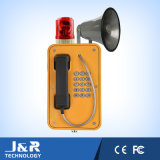 Wetterfestes Freisprechtelefon mit Hupe/Leuchtfeuer, im Freiensendungs-Telefon