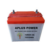 Novo secar a bateria acidificada ao chumbo 12n24-3A 12V24ah da segadeira de gramado da carga