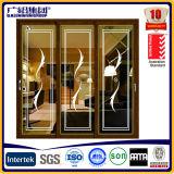 Fournisseur pour les portes coulissantes en aluminium avec l'écran noir de mouche d'acier inoxydable