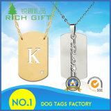 Metálica hueso de perro etiqueta de diseño personalizado para los animales domésticos