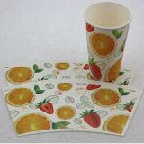 Papel hermoso impreso de encargo de taza de papel de la taza de la bebida de la alta calidad