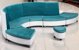 Modern Wooden Office Hotel Lobby Leisure Leather Sofa