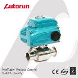 Válvula de bola sanitária elétrica de três vias elétrica do fornecedor de Wenzhou chinês