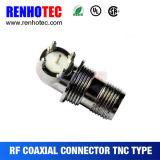 Connecteur TNC en laiton à courant alternatif AC / DC Power Solder PCB
