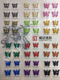 Broche de presión de costura pintado y electrochapado Button&#160 de la aleación del modelo de mariposa;