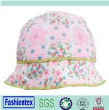 Sombrero del compartimiento del bebé del verano del algodón de la impresión de las flores