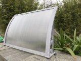 De duurzame Luifel van het Dak van het Metaal van de Deur met de Montage van de Luifel van het Aluminium