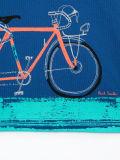 Chemise de polo estampée par bicyclette du garçon d'usine