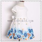 Vestido floral das meninas do teste padrão da flor bonita por 10 anos de meninas idosas