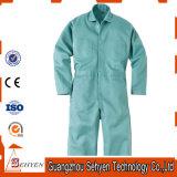 Combinaison 35%Cotton et 65%Polyester de chemises de vert d'usine de la Chine longue