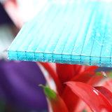 Hoja hueco revestida ULTRAVIOLETA de cuatro paredes del policarbonato para la ventana