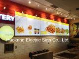De Tekens van de reclame met Raad van het LEIDENE de Lichte Menu van de Doos voor de Vertoning van het Snelle Voedsel van het Restaurant