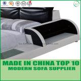 Doppia base della camera da letto del cuoio semplice moderno della mobilia