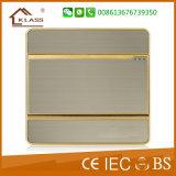 Interruttore elettrico della parete 1-G di alta qualità grigia di colore