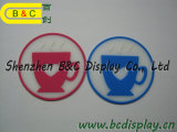 SGS (B&C-G109)が付いている茶Placの円形のShaperのコーヒーコースター、マット、ビールマットおよびホテルのコースター