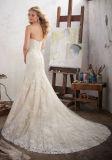 Los encajes de 2017 una línea de novia vestidos de novia Nwm1702