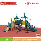 子供の大きい屋外のスライド装置、運動場装置は寓話シリーズに値を付ける
