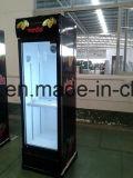 Supermercado de vidro porta vertical de refrigerador para cerveja