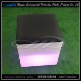 Sede di plastica variopinta esterna del cubo di qualità eccellente LED LED