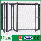 Porta de dobradura de vidro de alumínio da ruptura térmica com padrão australiano