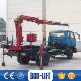 Utilisé 2 tonnes mini de flèche articulée monté sur camion grue SQ2ZA1
