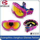 Lunettes de soleil de ski de sports en plein air de logo fait sur commande en gros d'usine pour des lunettes de ski de protection d'oeil de Googles de la protection UV400