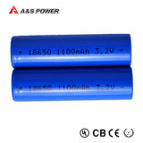 18650 3.2V 1100mAh Batterie rechargeable au lithium LiFePO4