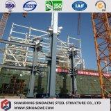 Edifício pré-fabricado profissional da central energética do frame de aço de grande extensão