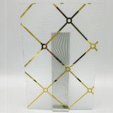 5mm bronze claro Arte azul de vidro para partição de quarto e decorativa