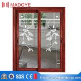 Puerta deslizante del aluminio de la doble vidriera del surtidor de China
