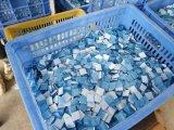 ضوء - زرقاء زجاجيّة فسيفساء لأنّ [سويمّينغ بوول] جدار قرميد