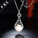 合金の白い金のめっきされた熱い販売の方法宝石類の真珠のネックレス