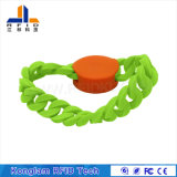 Wristband a circuito chiuso del silicone RFID della cinghia di manopola per il bagno dei centri