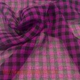 100% Tecido de tecido de poliéster Tela de tingimento Tecido de treliça para vestido de saia Roupa de roupa de cachecol
